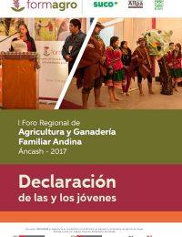 Declaración de los y las jóvenes participantes en el I Foro Regional de Agricultura y Ganadería Familiar Andina
