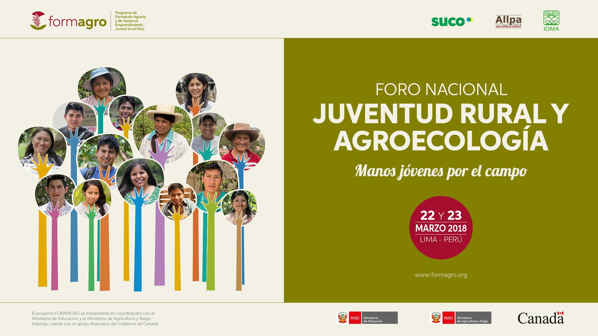 """Foro Nacional """"Juventud rural y Agroecología"""" Manos jóvenes por el campo"""