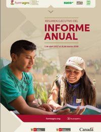 Informe Anual de FORMAGRO (abril 2017 – marzo 2018)