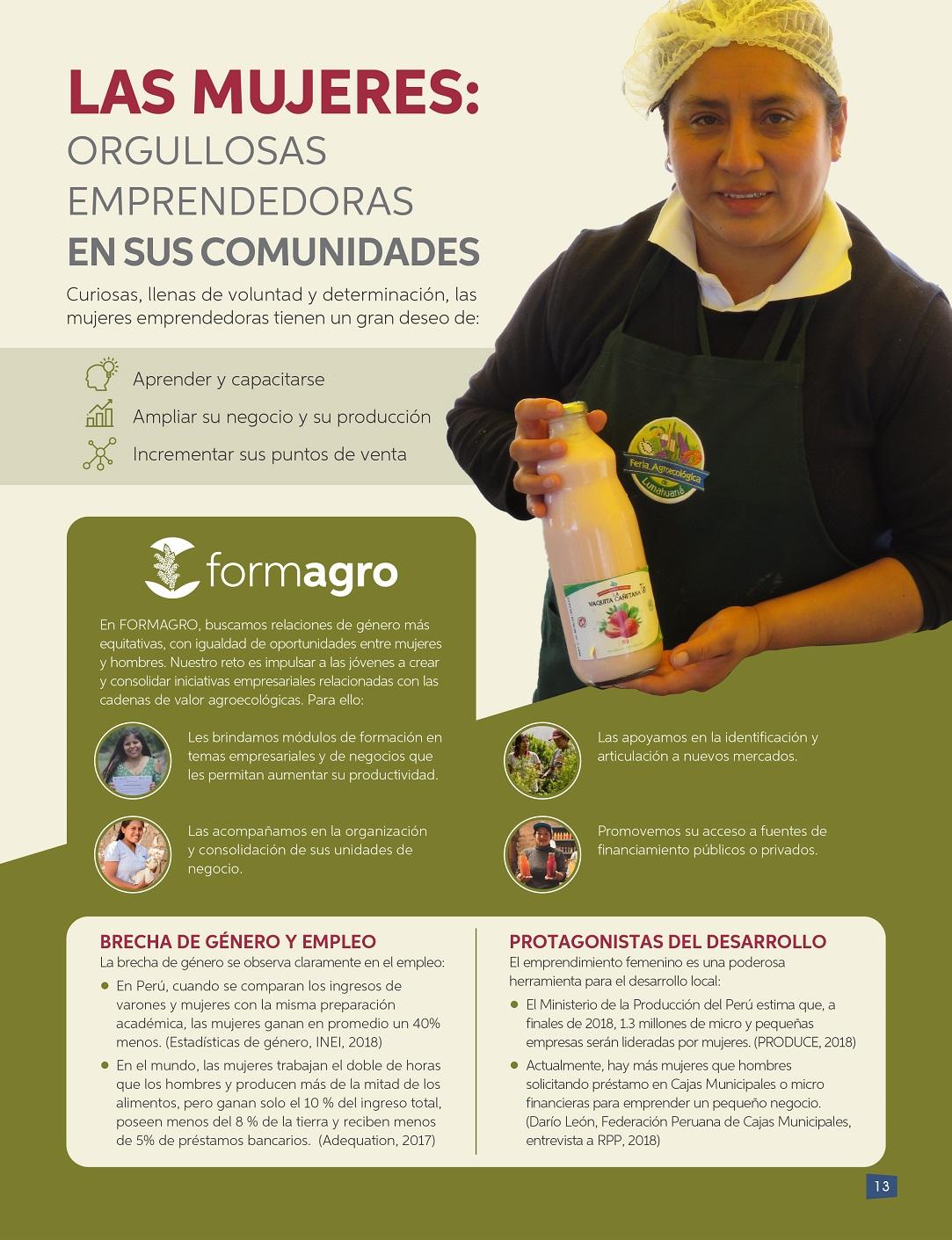 Las Mujeres Orgullosas Emprendedoras En Sus Comunidades Formagro