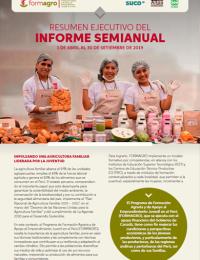 Informe Semi Anual de FORMAGRO (de abril a setiembre 2019)