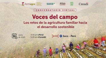 """Proyecto FORMAGRO realizó conversatorio """"Voces del campo: Los retos de la agricultura familiar hacia el desarrollo sostenible"""""""